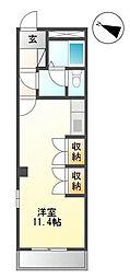 千葉県千葉市中央区栄町の賃貸マンションの間取り