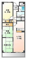 第3阿井マンション[4階]の間取り