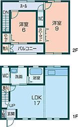 [テラスハウス] 奈良県橿原市地黄町 の賃貸【/】の間取り