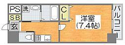 Osaka Metro谷町線 喜連瓜破駅 徒歩7分の賃貸マンション 3階1Kの間取り