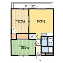 静岡県静岡市葵区東千代田2丁目の賃貸マンションの間取り