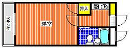 ユウパレス穴田[3B号室]の間取り