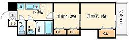 セントラル南船場[6階]の間取り