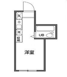 東京都調布市国領町4丁目の賃貸アパートの間取り