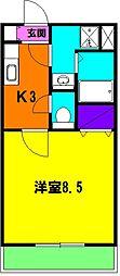 静岡県浜松市中区泉1丁目の賃貸マンションの間取り
