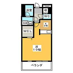 プリステージュ[6階]の間取り