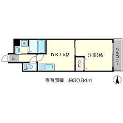 スールシャンブル[6階]の間取り