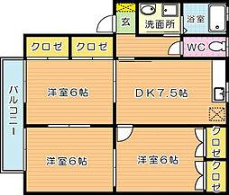 レジデンス玄界[2階]の間取り