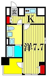 クレストタップ綾瀬 4階1Kの間取り