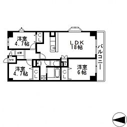 戴慶カーサグラシア(タイケイ)[307号室号室]の間取り