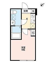 マツドシンデンハッピーハウス[302号室号室]の間取り