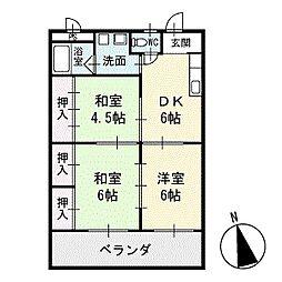 リバーイースト浅井 3階[303号室]の間取り