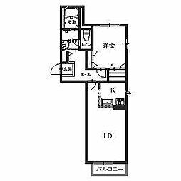 ディアコート高石[2階]の間取り