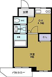 タウンハウス本田[5階]の間取り