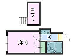 レオパレスTS奈良[201号室]の間取り