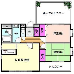 兵庫県神戸市東灘区北青木2丁目の賃貸マンションの間取り