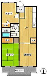 エスポワール東戸塚(エスポワールヒガシトツカ)[4階]の間取り
