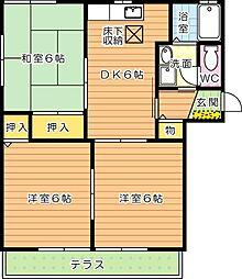 セゾン永犬丸 B棟[1階]の間取り