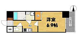 大阪府大阪市西区本田2丁目の賃貸マンションの間取り