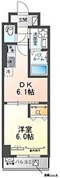 東京メトロ丸ノ内線 後楽園駅 徒歩10分の賃貸マンション 1階1DKの間取り
