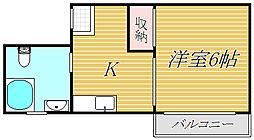 パラシオン江本[3階]の間取り
