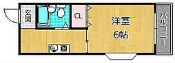 ラ・セーヌ[3階]の間取り