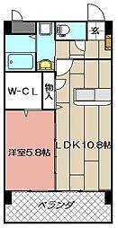 エラン黒崎[402号室]の間取り