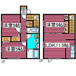 [タウンハウス] 北海道札幌市北区太平二条3丁目 の賃貸【北海道 / 札幌市北区】の間取り