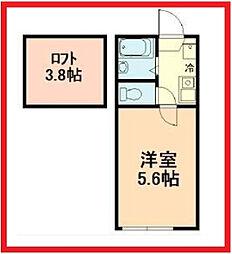 東京都墨田区八広3丁目の賃貸アパートの間取り