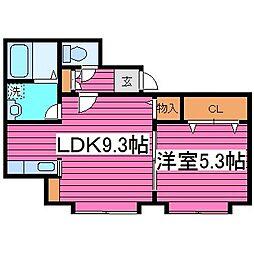 北海道札幌市東区北三十五条東15丁目の賃貸アパートの間取り