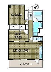 グラディート町田[7階]の間取り
