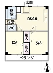津IN COURT練木ノースコート[2階]の間取り