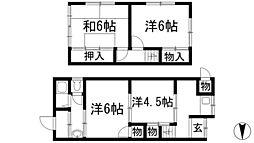 [テラスハウス] 兵庫県川西市中央町 の賃貸【兵庫県 / 川西市】の間取り