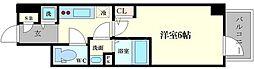エスリード難波ステーションゲートノーステラス[11階]の間取り