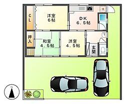[一戸建] 愛知県あま市七宝町遠島新開 の賃貸【愛知県 / あま市】の間取り
