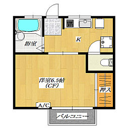 Third Heights Yamaya 〜第三ハイツヤマヤ[2階]の間取り