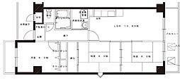 メルベーユ・杉[3階]の間取り