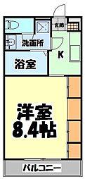 仙台市地下鉄東西線 薬師堂駅 徒歩13分の賃貸マンション 3階1Kの間取り