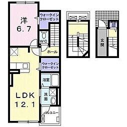 メゾン・Y 3階1LDKの間取り