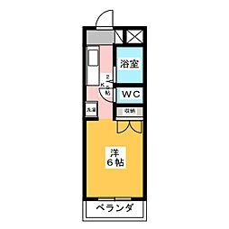 ジョイフル江島[3階]の間取り