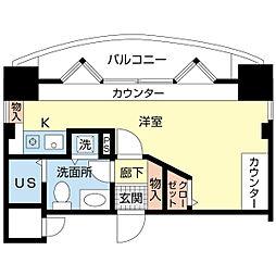 新潟県新潟市中央区関新2丁目の賃貸マンションの間取り
