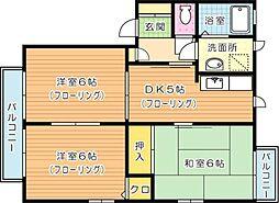 サンパルモ B棟[1階]の間取り