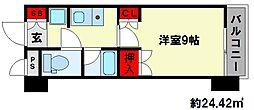 コンフォール高宮東 高宮駅[6階]の間取り
