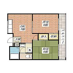 サンコーマンション[2階]の間取り