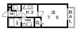 エスポワール[105号室号室]の間取り