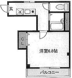 東京都大田区仲六郷2丁目の賃貸マンションの間取り