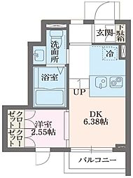 東急東横線 中目黒駅 徒歩7分の賃貸アパート 1階1DKの間取り