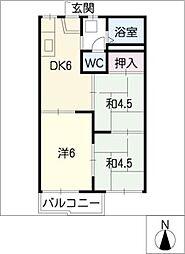第二太田コーポ[2階]の間取り