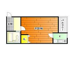 プレステージII[4階]の間取り