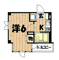 コパーズアプト鶴ヶ峰[306号室]の間取り